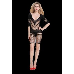 Мини-платье, сетка с геометрическим узором VupiDupi, черное