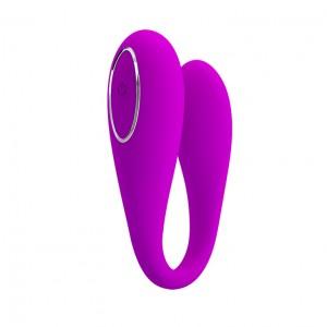 Вибратор парный August, 12 режимов вибрации, управление через мобильное приложение, 95х31 мм, фиолет