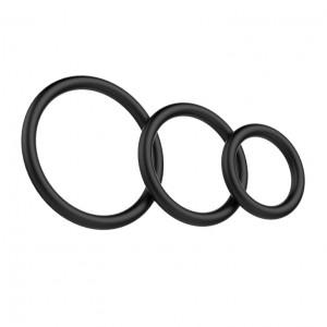 Набор из трех эрекционнных колец Baile, черный