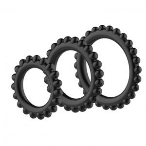 Кольцо эрекционное, набор из 3-х штук, D 33/38/43 мм, черные