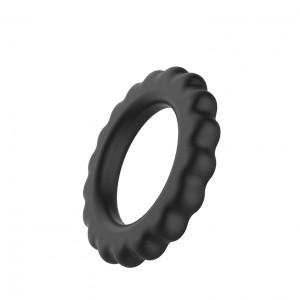 Кольцо эрекционное ребристое Baile, 4,2 мм, черное
