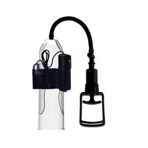 Помпа вакуумная с вибрацией Alexander Pretty Love с ручным насосом, 245х73 мм, прозрачная