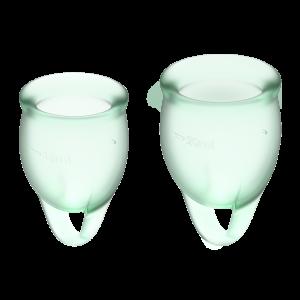 Набор менструальных чаш Feel confident Menstrual Cup Satisfyer, светло-зеленые