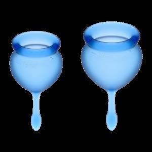 Набор менструальных чаш Feel good Menstrual Cup Satisfyer, темно-синий