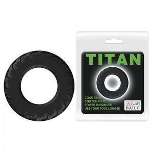 Кольцо эрекционное Titan Baile, D 39 мм, черное