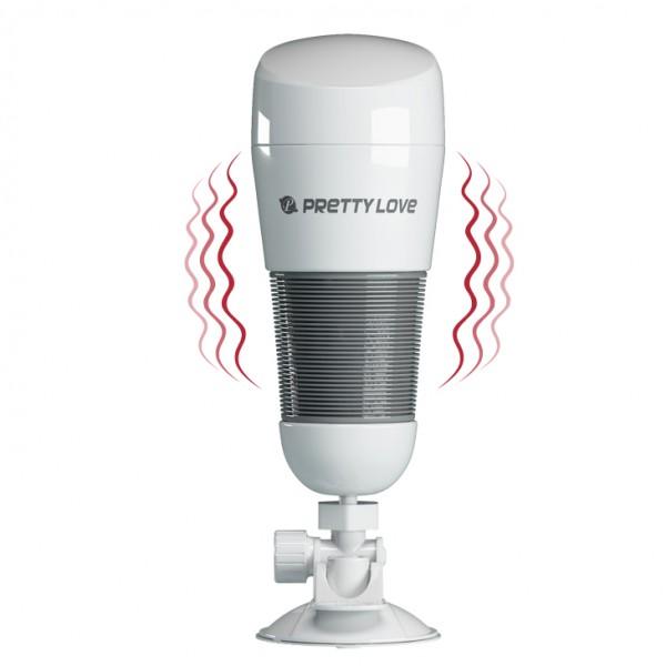 Мастурбатор-анус Hedy с вибрацией на присоске Pretty love, 270х860 мм, белый - 10